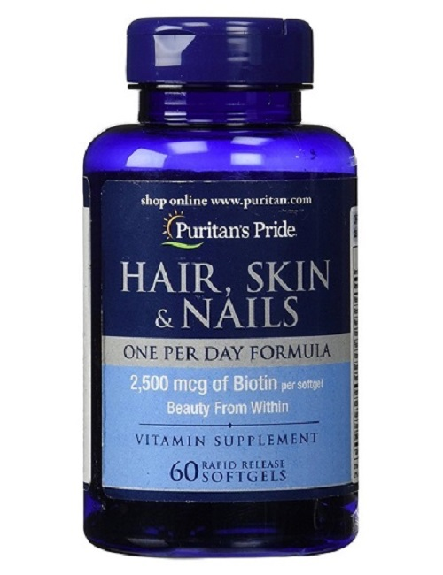 chăm sóc tóc Biotin 2500 mg puritan's pride