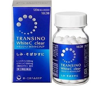 Giá Viên Uống Transino white C Clear 120 Viên Của Nhật Bản tại suckhoesacdep.vn