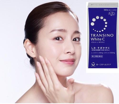 Viên Uống Transino white C Clear 120 viên Của Nhật Bản giúp làm trắng da.