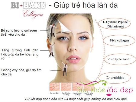Công dụng chống lão hóa của Bihaku Collagen