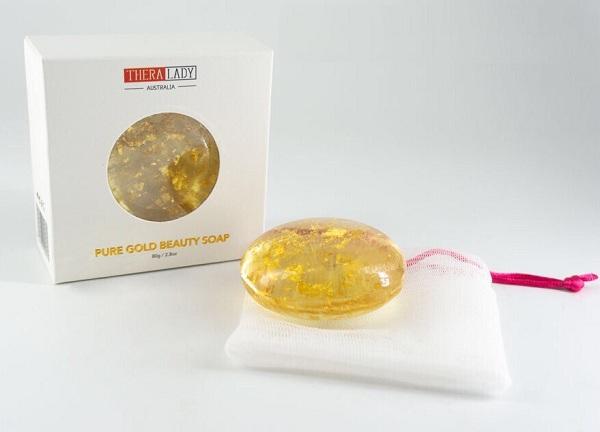 Xà phòng tinh chất vàng Thera Lady Pure Gold Beauty Soap 24k 80g của Úc