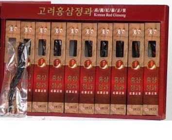 Hồng sâm củ Hàn Quốc tẩm mật ong – Hộp 10 củ sang trọng