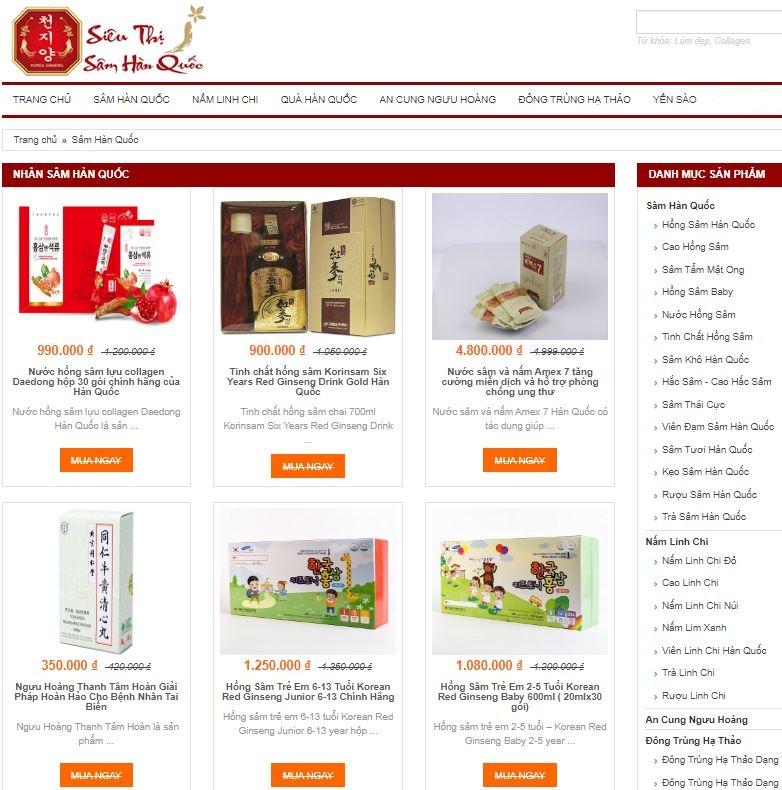 Điểm danh 3 địa chỉ mua nhân sâm Hàn Quốc