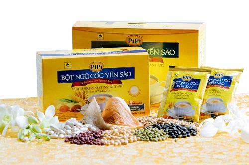 bột ngũ cốc yến sào Pipi hộp 20 gói