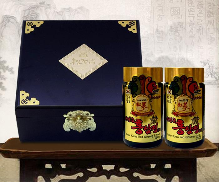 Cao hồng sâm Bio gold hộp 2 lọ chính hãng Hàn Quốc cao cấp