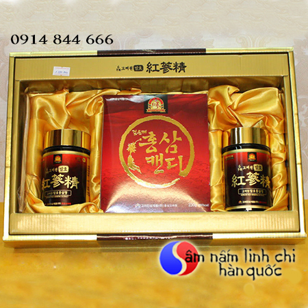 Cao hồng sâm và kẹo sâm Hàn Quốc