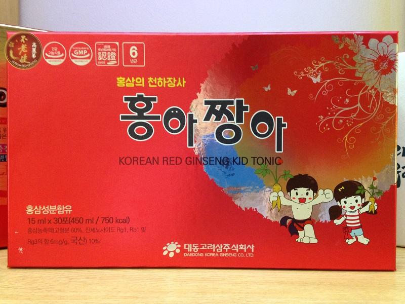 Công dụng của Hồng sâm baby Kid tonic Daedong