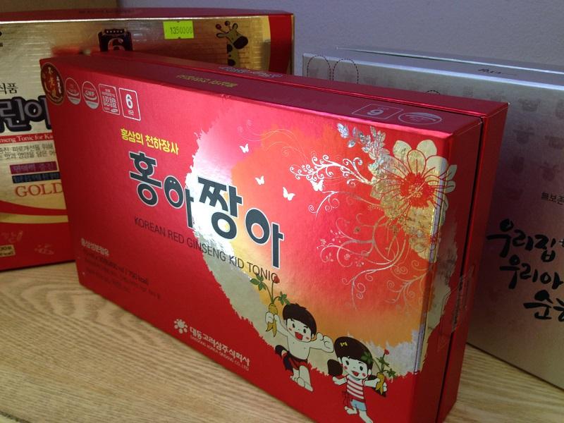 Cách dùng Hồng sâm baby Kid tonic Daedong