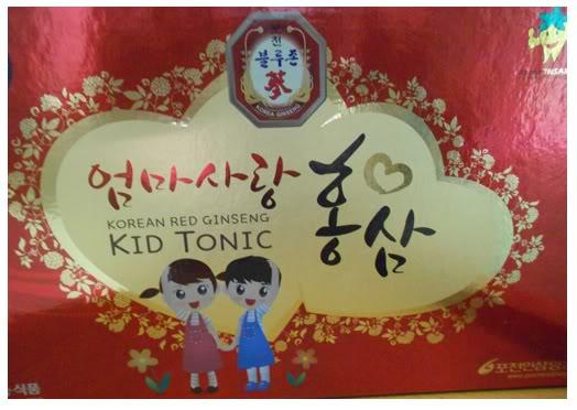 Hồng sâm baby Kid tonic Hàn Quốc 20ml x10 gói cho bé yêu
