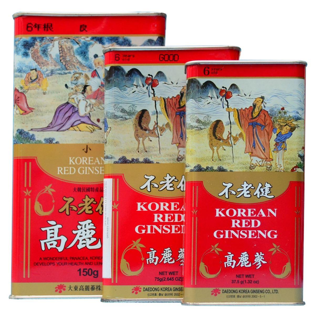 Uống Hồng sâm củ khô 300gr Daedong tăng cường sức khỏe