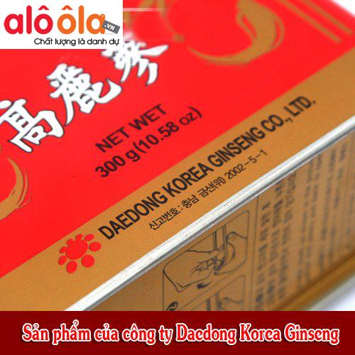 Hồng sâm củ khô 300gr Daedong Hàn Quốc 2