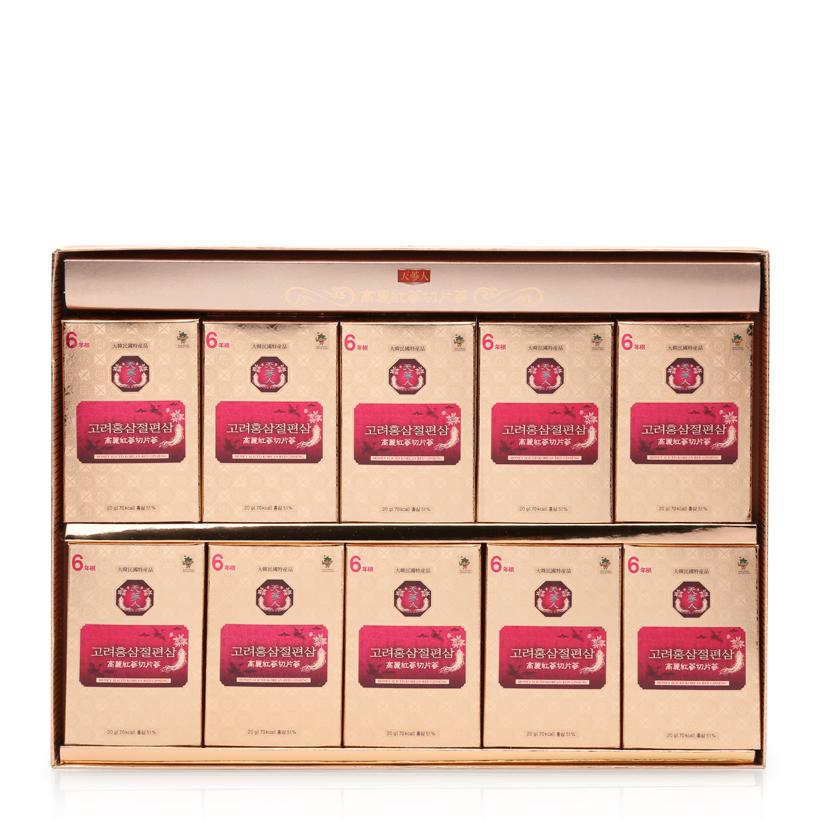 Hồng sâm lát tẩm mật ong Sliced Red Ginseng hộp 10 túi