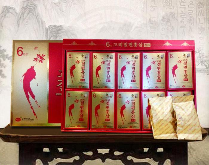 Hồng sâm thái lát tẩm mật ong KGS hộp đỏ Hàn Quốc