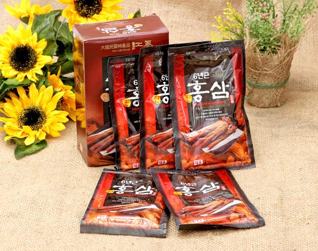 Sử dụng nước Hồng Sâm 30 gói Teeung chính hãng