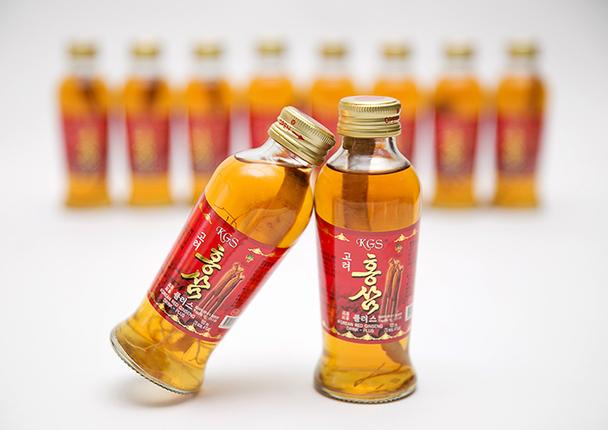Uống nước hồng sâm có củ KGS 120ml x 10 chai Hàn quốc