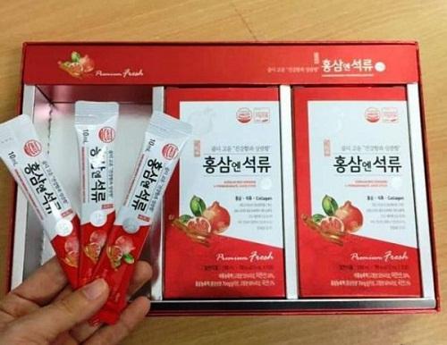 nước hồng sâm collagen daedong hộp 30 gói