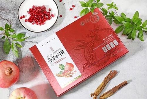 nước hồng sâm lựu collagen bổi bổ tăng cường sức khỏe
