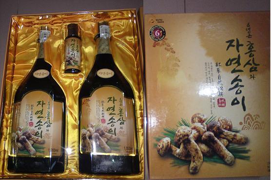 Nước hồng sâm nấm đông cô Hàn Quốc bổ dưỡng và làm đẹp