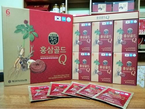 nước hồng sâm q - korea red ginseng gold