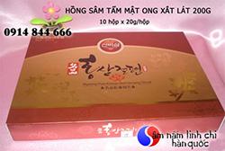 Sâm lát tẩm mật ong Hàn Quốc 200gr cho cơ thể cường tráng