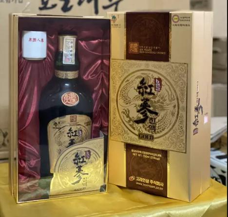 korinsam six years red ginseng drink gold đóng gói sang trọng bắt mắt