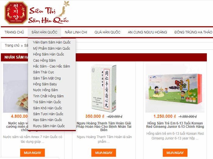 Top 3 cửa hàng bán sâm Hàn Quốc tốt nhất hiện nay