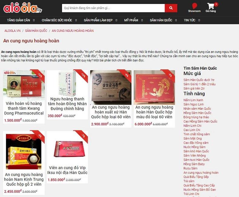 Top 3 địa chỉ bán An Cung Ngưu Hoàng Hoàn uy tín chất lượng