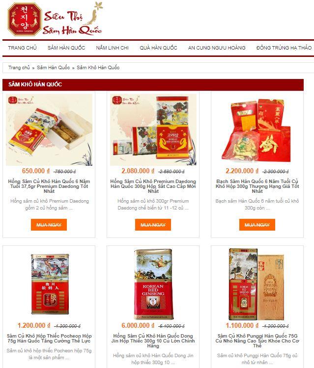 Review top 3 địa chỉ bán Sâm Củ Khô Hàn Quốc tốt nhất hiện nay