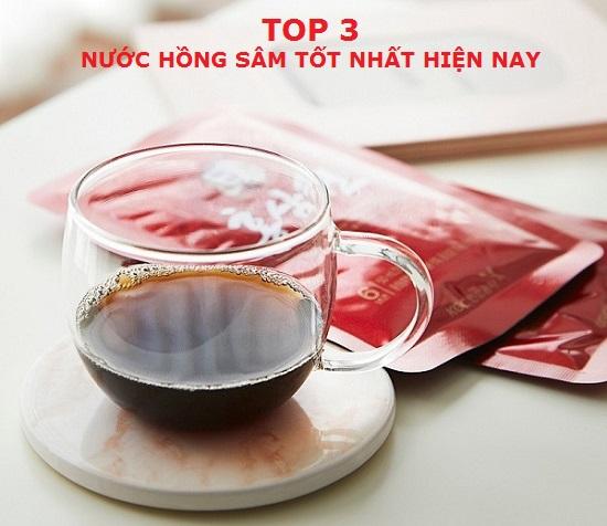Review top 3 nước hồng sâm Hàn Quốc