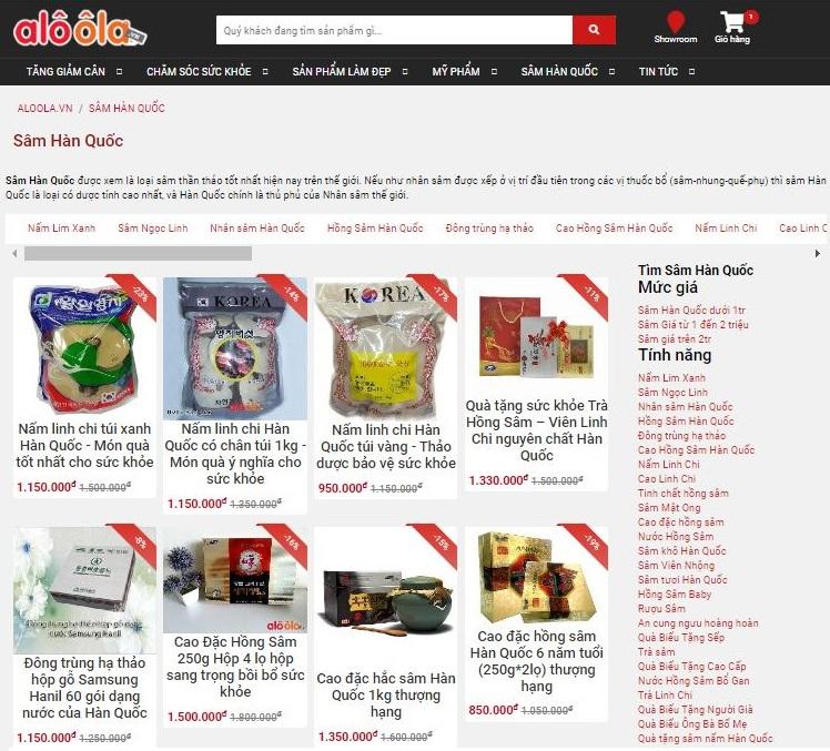 TOP 3 trang web bán nhân sâm Hàn Quốc chính hãng