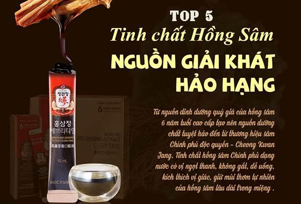 Top 5 tinh chất hồng sâm Hàn Quốc dạng gói được tin dùng nhất hiện nay