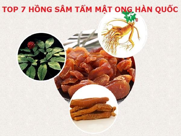 Top 7 hồng sâm tẩm mật ong Hàn Quốc tốt nhất và được ưa chuộng nhất