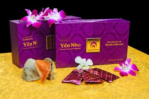 Trà Hòa Tan Yến Nho Hộp 300g 20 Gói Cao Cấp Thuộc Yến Sào Nha Trang