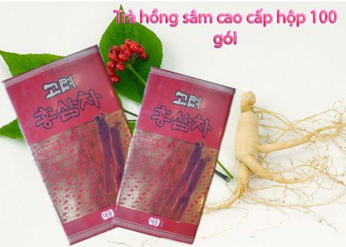 Trà hồng sâm Hàn Quốc hộp 100 gói