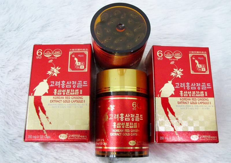 Cách uống viên hồng sâm Hàn Quốc KGS 120 viên