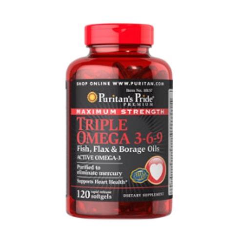 Sản phẩm hỗ trợ tim mạch - Omega 3 6 9 Fish, Flax & Borage Oils Puritan's Pride
