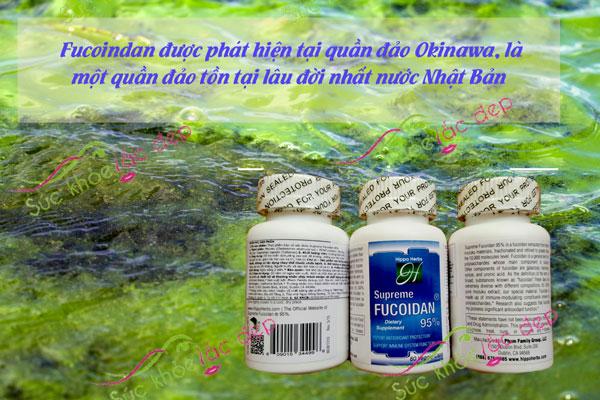 Fucoidan Superme 60 viên được chiết xuất từ tảo mozuko và một số loại tảo nâu
