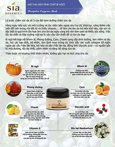 Mặt nạ men tinh chất bí ngô pumpkin enzyme mask sia botanics