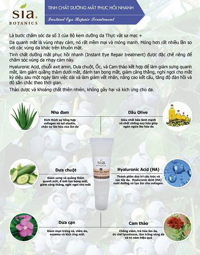 Tinh chất dưỡng mắt phục hồi nhanh sia botanics