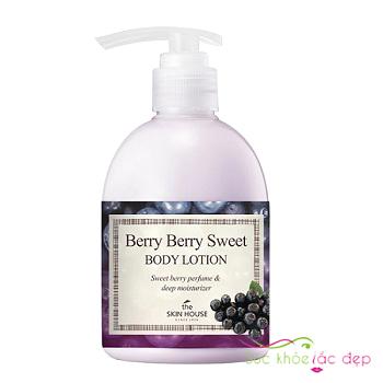 tại sao nên sử dụng sữa dưỡng thể the skin house berry berry sweet body lotion