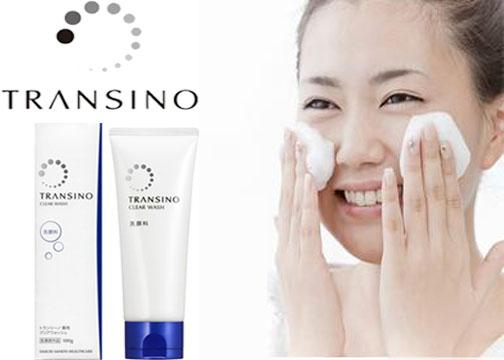 Rửa mặt 2 lần mỗi ngày với Transino Clear Wash tạo tiền đề chăm sóc da tốt hơn