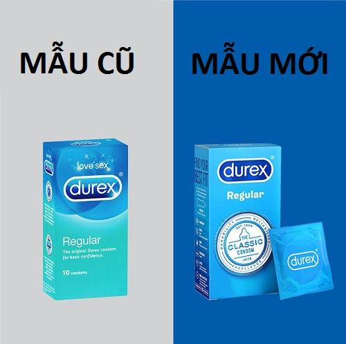 Bao cao su Durex Regular 10 condoms của Úc
