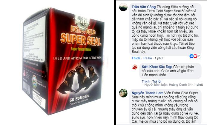 review chia sẻ của khách hàng về  extra gold super seal