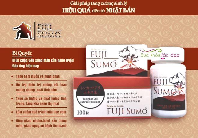 Tác dụng của viên uống tăng cường sinh lý nam Fuji Sumo là gì?