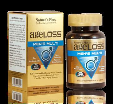 Ageloss Men's Multi bảo vệ sức khỏe tăng cường sinh lý nam