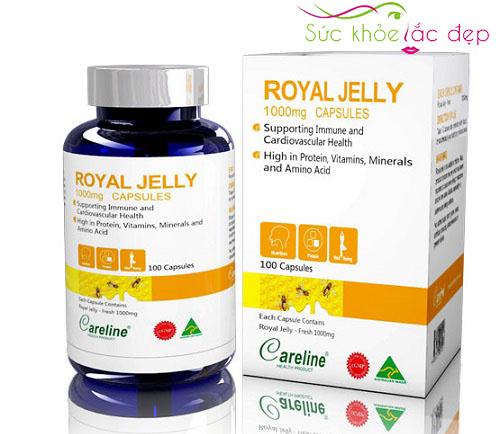 Liều lượng sử dụng sữa ong chúa Royal Jelly Careline 1000mg careline