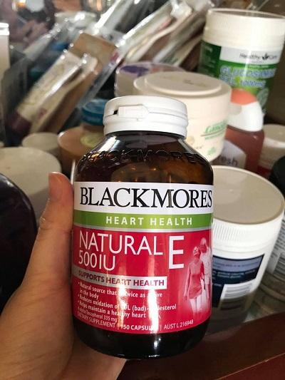 Viên uống Blackmores Natural Vitamin E 500IU