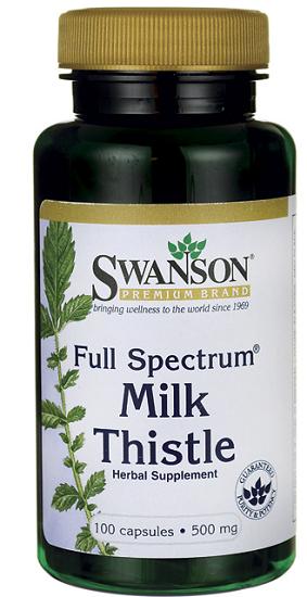 Swanson Full Spectrum Milk Thistle 500mg