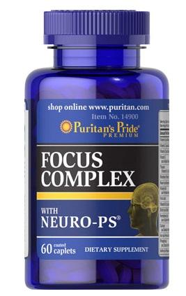 Thực phẩm chức năng bổ não Focus Complex - Puritan's Pride của Mỹ