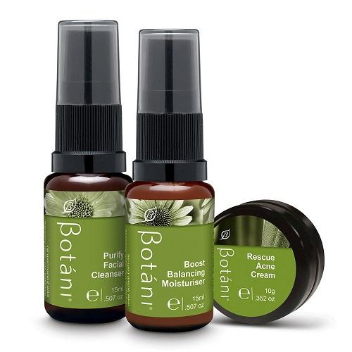 Bộ ba sản phẩm chăm sóc da mụn Botáni Skin Rescue Kit